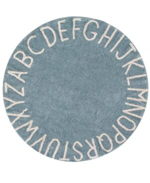Dywan Lorena Canals Round ABC Vintage Azul Natural 150