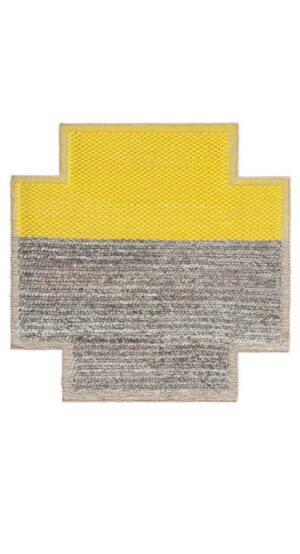 Dywan Gan Mangas Space Plait Yellow Square