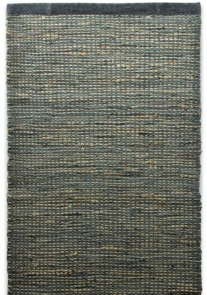 Dywan Rug Solid Jute/Leather Graphite