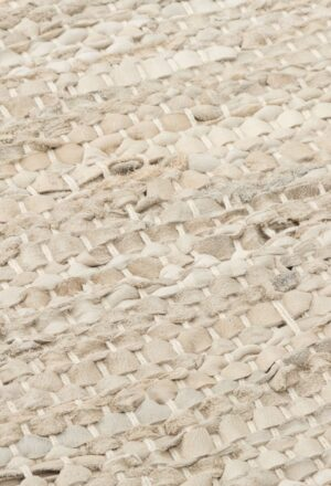 Dywan Rug Solid Leather Beige