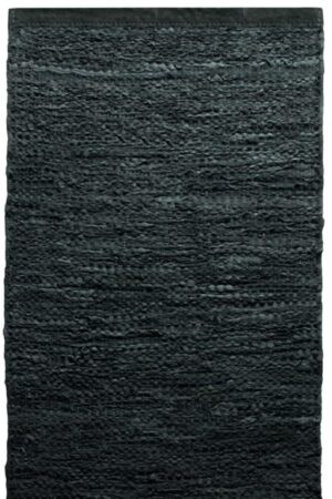 Dywan Rug Solid Leather Dark Grey
